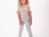 Twistedbabydoll KIDS Colourbomb Tee met Franjes in Neon Oranje